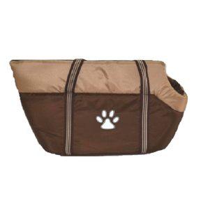 Τσάντα Μεταφοράς Cotton Καφέ/Μπεζ 40x21x22cm